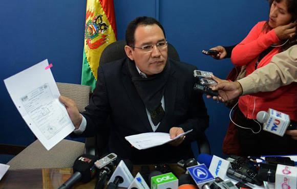 El Fiscal General, Ramiro Guerrero, demostró que todo era una farsa. Foto. Radio Panamericana.