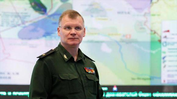 Portavoz del Ministerio de Defensa ruso ïgor Konashenkov. Foto: Archivo