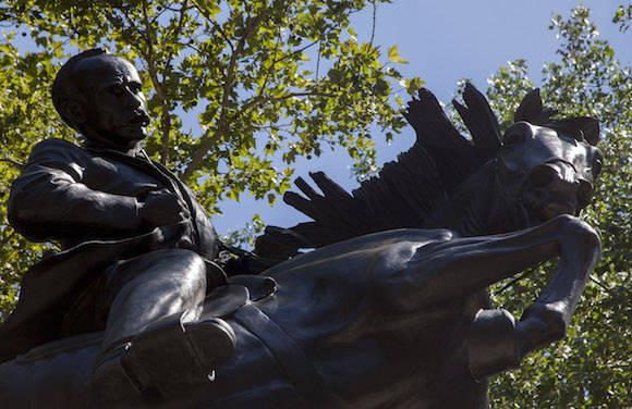 La estatua de José Martí en el Parque Central, de Nueva York. Foto: Ismael Francisco/ Cubadebate