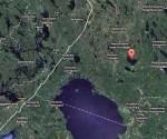 Los botes se voltearon durante una tormenta en el Lago Syamozero, 120 kilómetros al este de la frontera con Finlandia. Foto: tomada de Google Maps