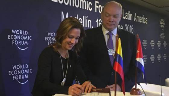 Firman Cuba y Colombia acuerdo comercial: 89 por ciento de productos llegará al país con cero arancel