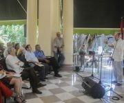 Intervención de Ricardo Alarcón de Quesada (D), político cubano vinculado a la Causa del Pueblo puertorriqueño. Foto: Oriol de la Cruz Atencio/ ACN