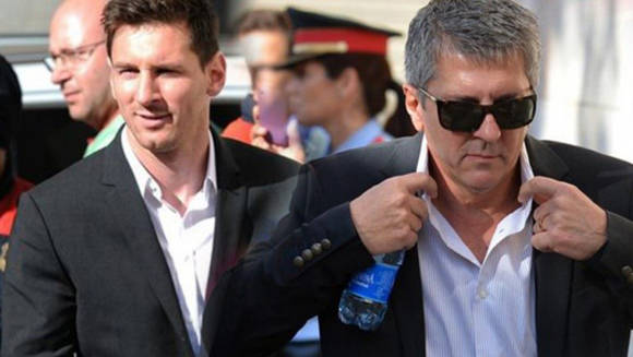 Lionel Messi y su padre Jorge.