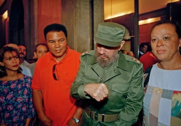 Muhammad Ali y Fidel Castro en La Habana, 1996. Foto: Estudios Revolución