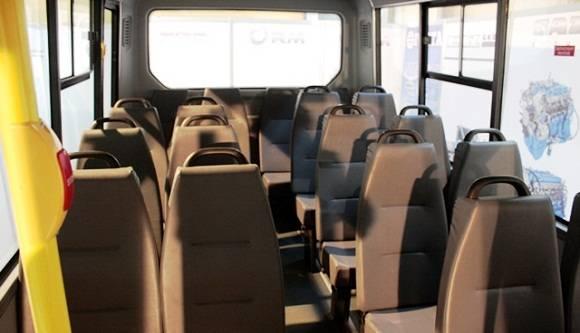 Posee capacidad para 18 pasajeros sentados, ventanillas panorámicas, climatización y una significativa amplitud interior. Foto: René Pérez Masola.