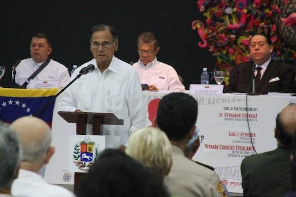 El doctor Alí Rodríguez Araque, embajador bolivariano en la capital cubana.