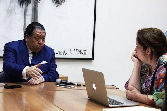 A juicio de Escarrá no existen las condiciones para un revocatorio. Foto: Embajada de Venezuela en Cuba.