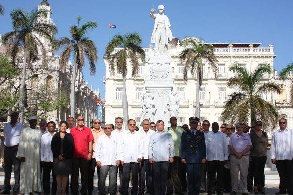 Ofrenda a José Martí.
