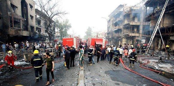 Los hechos ocurrieron en un popular mercado del barrio Karrada. Foto: Reuters.