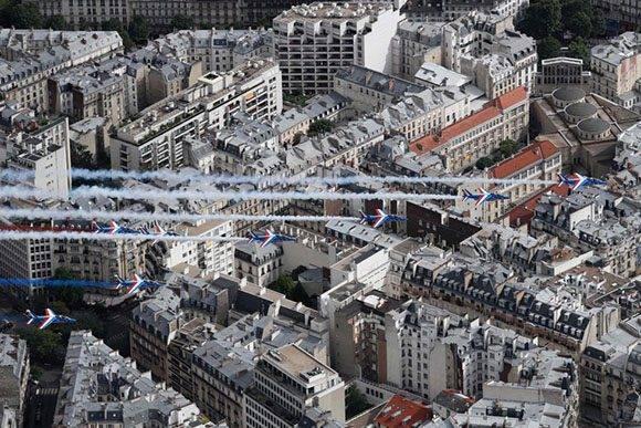 Vista aérea de París. Foto: AFP