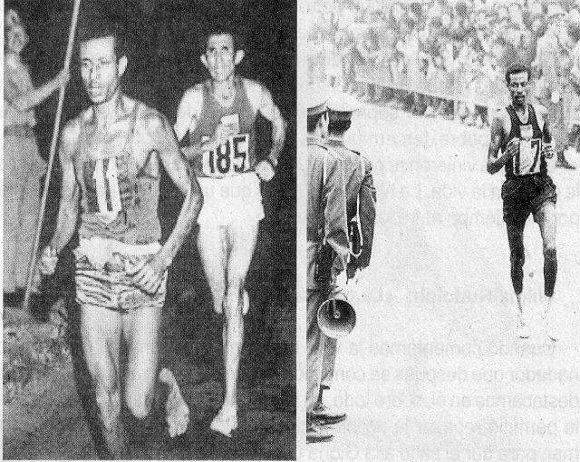 Abebe Bikila corrió descalzo. Foto: Archivo.