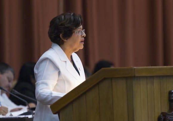 Lina Pedraza, Ministra de Finanzas y Precios. Foto: Ladyrene Pérez/ Cubadebate