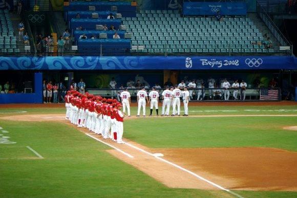 Béisbol en Juegos Olímpicos de Beijing. Foto: Archivo.