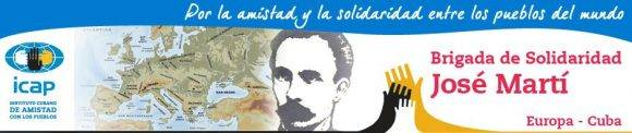 Póster de la Brigada Europea José Martí. Tomado de brigadaeuropeajm.wordpress.com.