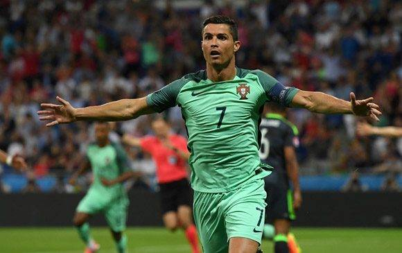 CR7 celebra su gol. Foto: UEFA