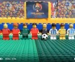 Chile vs Argentina versión lego. Foto: Captura de pantalla del video en YouTube.