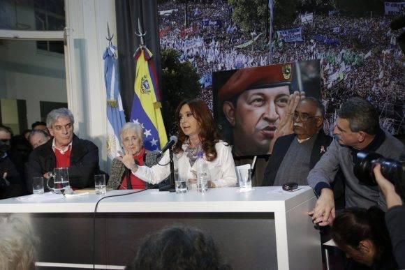 Cristina habla en homenaje a Chávez en Buenos Aires,  28 julio 2016, Foto: Cuenta de Twitter de Juan Manuel Karg