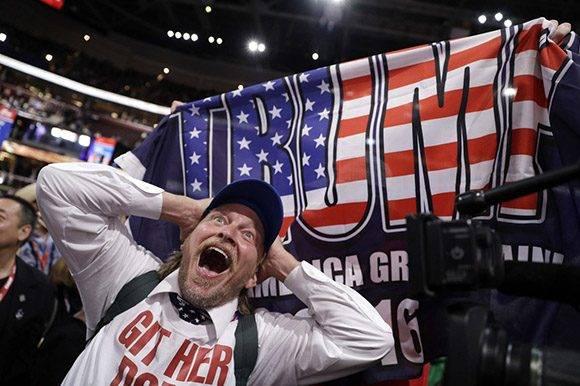 La Convención Republicana estuvo llena de excentricismo. Foto: AP.