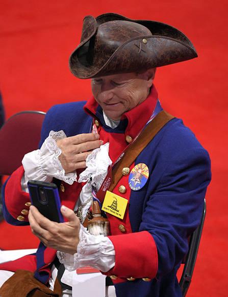 La Convención fue una fiesta de difraces, un show apolítico. Foto: AP.