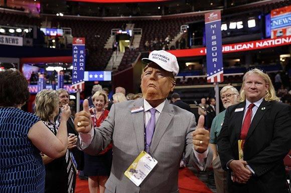 Donald Trump salió electo oficialmente como el representante del Partido Republicano. Foto: AP.