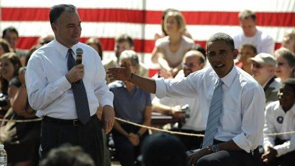 En 2008 Kaine estuvo en la lista de posibles candidatos a la vicepresidencia de Barack Obama. Foto: Getty.