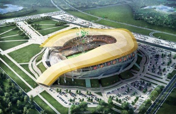 Estadio Rostov on Don, uno de los estadios que albergará los partidos de la Copa del Mundo de 2018. Foto tomada de The Telegraph.