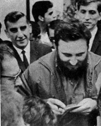 Fidel Castro, Igor Bondarevsky y Booby Fischer. La Habana 1966