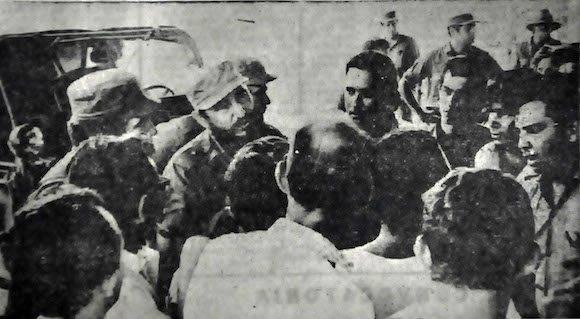 El Comandante en Jefe visitó el 14 de julio de 1971 las canteras de Palo Seco en el municipio de Guáimaro, donde chequeó los suministros de piedras para el mantenimiento y reparación de las vías del sistema ferroviario cubano.