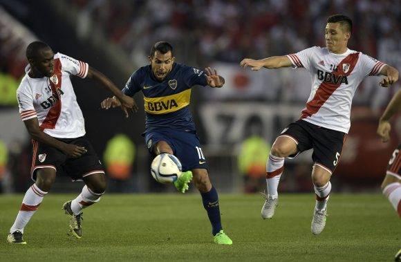 Imagen de un partido entre Boca y River. Foto: AFP