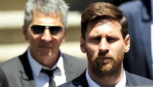 Jorge Messi y su hijo Lionel. Foto tomada de La Nación.