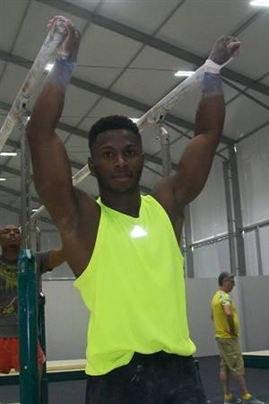 Manrique entrenando en Río. Foto: Delegación cubana