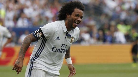 Marcelo es el líder goleador del Real Madrid en la pretemporada con tres goles en dos partidos. Foto tomada de Marca.