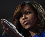 Michelle Obama durante la Convención Demócrata en Filadelfia. Foto: AFP.