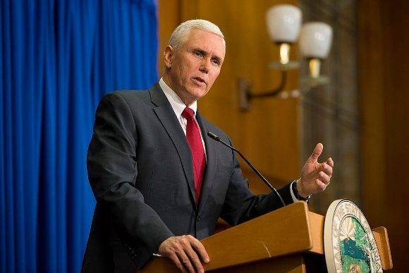 Gobernador de Indiana, Mike Pence, compañero de fórmula de Donald Trump . Foto: Getty Images.