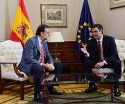 Los líderes de los partidos tradicionales españoles no llegaron a ningún acuerdo en su reunión y se vislumbra la amenaza de una tercera ronda de elecciones. Foto: EFE.