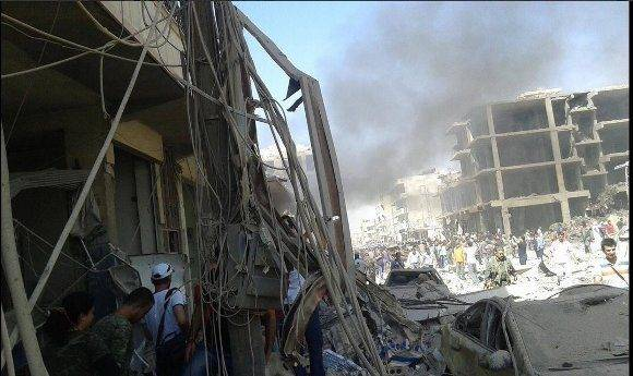 Atentado en Qamishli, Siria. Foto: @Lligams.