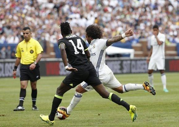 Marcelo marcó un golazo de derecha y luego otro de zurda. Foto tomada de Marca.