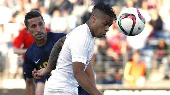 El joven de República Dominicana levantó al estadio con un golazo desde 30 metros. Foto tomada de AS.