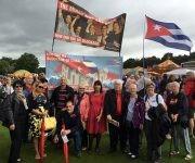 René Y Gerardo participaron en la Gala de los Mineros de Durham. Foto: Cuba Solidarity Campaing/ Facebook.