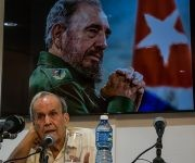 Conferencia del Dr. Ricardo Alarcón de Quesada, durante la inauguración del Taller ¨Pensamiento y obra de Fidel Castro Ruz sobre la política exterior de la Revolución Cubana, vigencia y proyección¨, en el Centro de Investigaciones de Política Internacional (CIPI), en La Habana, el 13 de julio de 2016. Foto: Marcelino VAZQUEZ HERNANDEZ/ ACN