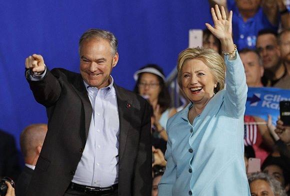 La primera presentación pública de Tim Kaine como compañero de fórmula de Hillary Clinton tuvo lugar en Miami. Foto: Scott Audette/ Reuters.