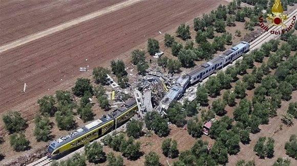Vista aérea de la tragedia. Foto: AP.