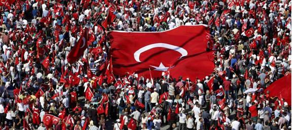 Turquia-manifestaciones en contra del golpe fallido