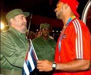 Anier García con Fidel.