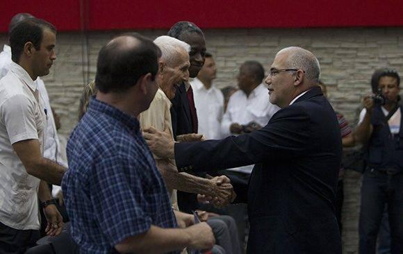 José Ramón Fernández, Presidente del Comité Olímpico Cubano y Antonio Becali, Presidente del Inder. Foto: Ladyrene Pérez/ Cubadebate.