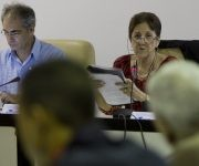 Yolada Ferrer, presidenta de la Comisión de Relaciones Internacionales y Alberto Núñez, vicepresidente. Foto: Ladyrene Pérez/ Cubadebate.