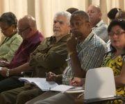 El Comandante de la Revolución, Ramiro Valdés Menéndez, vicepresidente de los Consejos de Estado y de Ministros, durante los debates de la comisión de Industria, construcciones y Energía. Foto: Ladyrene Pérez/ Cubadebate.