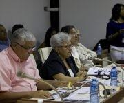 Gladys Bejerano, contralora general de la República, expone en la Comsiión de Asuntos Jurídicos y Constitucionales. Foto: