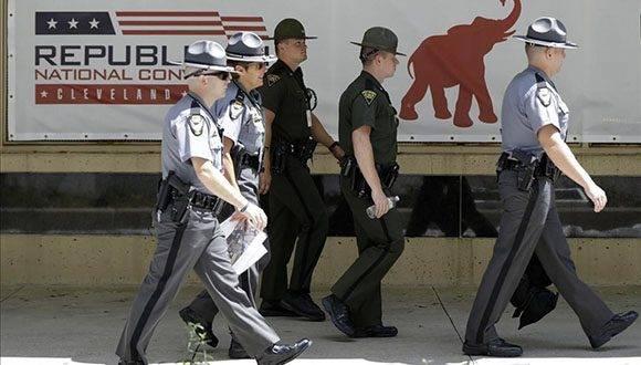Fuertes medidas de seguridad en Cleveland por Convención republicana. Foto: AP.