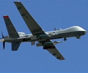Dron militar estadounidense modelo MQ-9. Foto: AP.
